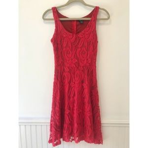 {Rue21} Gorgeous Red Lace Dress Size Small